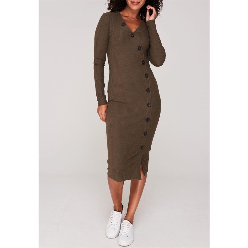 Šaty Only Nella Long Sleeve Midi Dress Beech