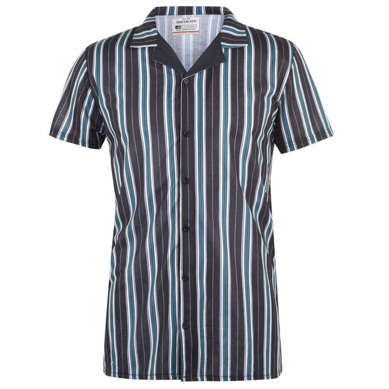 SoulCal Print Shirt Mens Nvy/Wht Stripe