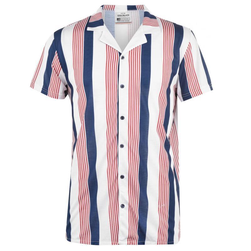 SoulCal Print Shirt Mens Multi Stripe