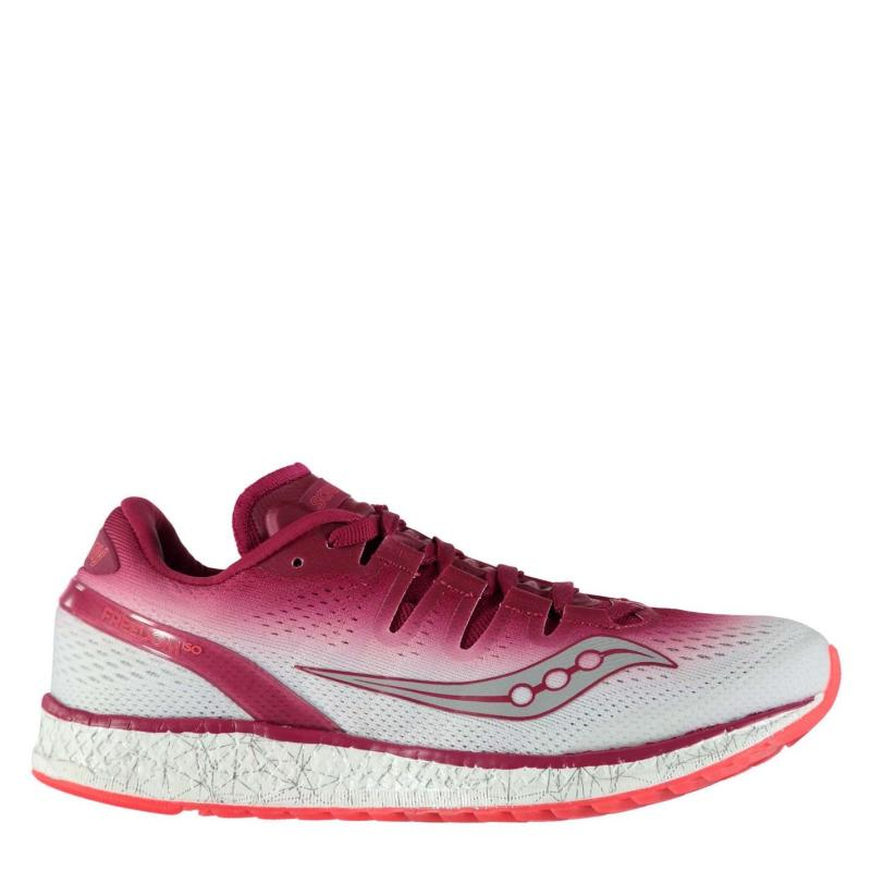 Saucony Freedom ISO Ladies Running Shoes Berry/White