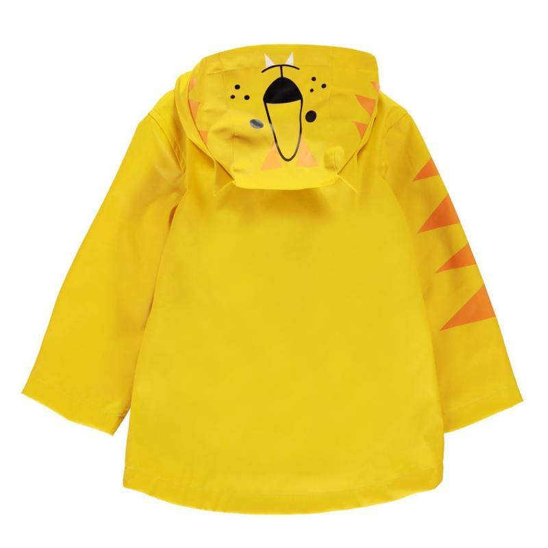 Bunda Crafted Essentials Rain Jacket Yellow Tiger