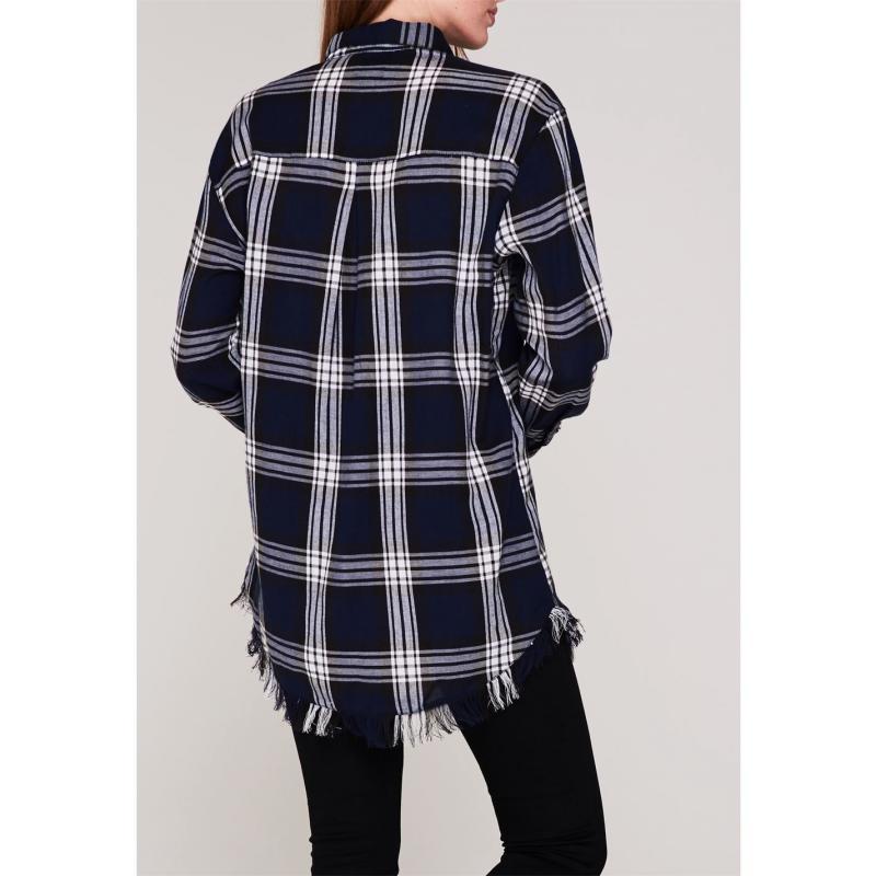 Košile Only Louise Check Shirt Sky
