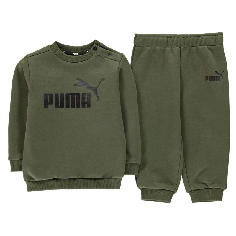 Tepláky Puma Crew Jogger Tracksuit Infant Boys Forest Night
