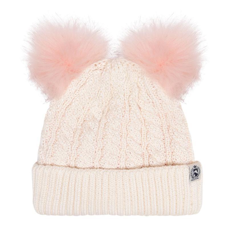 Requisite Pom-Pom Hat Junior Girls Cream