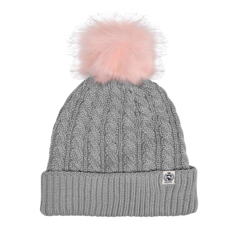 Requisite PomPom Hat Ladies Grey Marl
