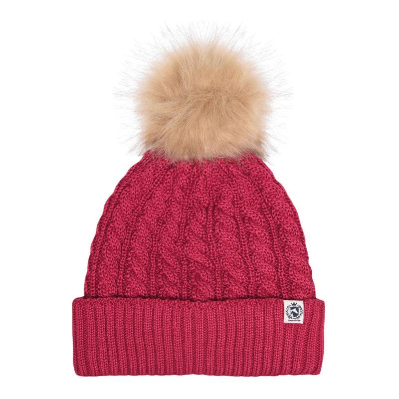 Requisite PomPom Hat Ladies Raspberry