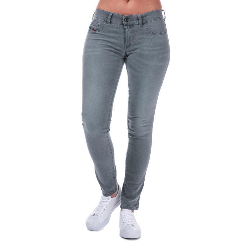 Diesel Womens Livier Skinny Jeans Grey