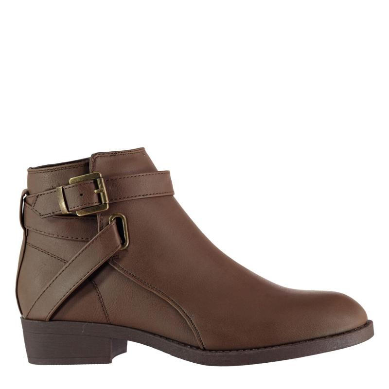 Miso Buckle Boots Womens Brown