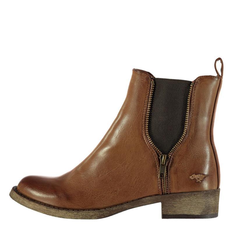 Rocket Dog Camilla Brom Boots Ladies Brown