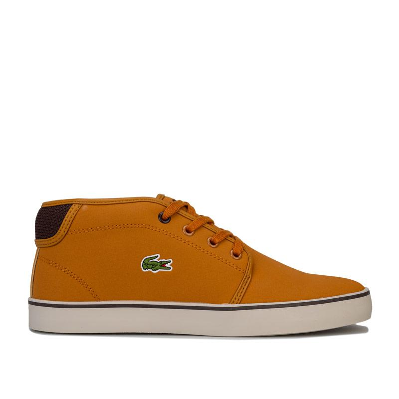 Boty Lacoste Junior Boys Ampthill Mid Trainers Tan