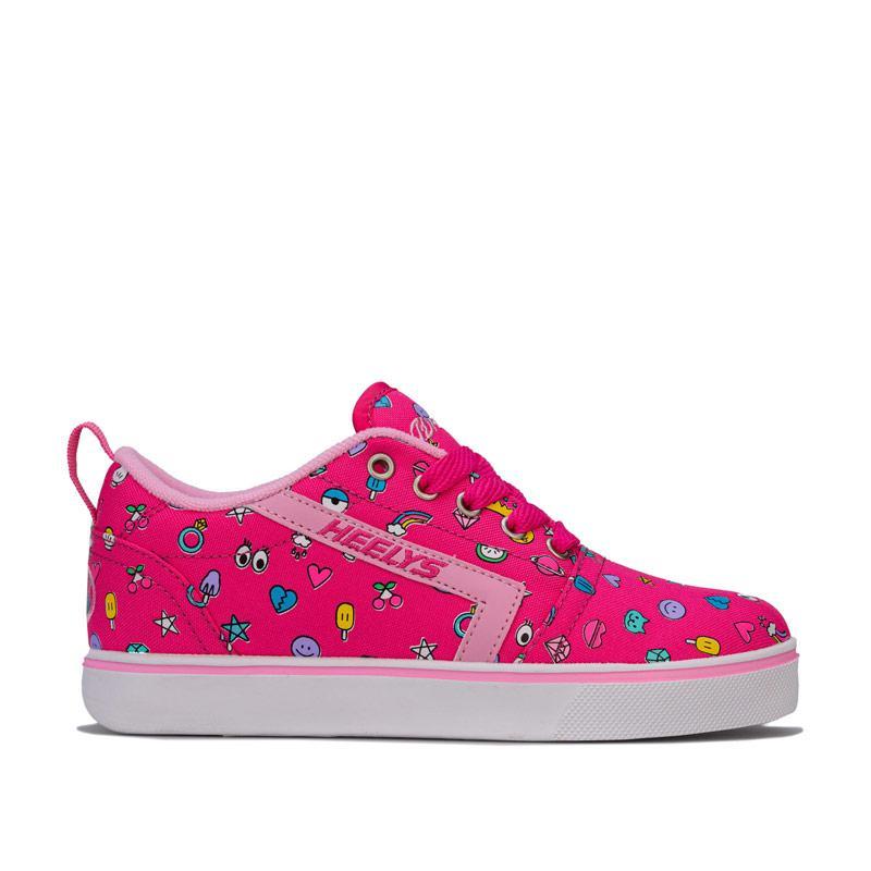 Heelys Junior Girls GR8 Pro Prints Skate Shoes Pink