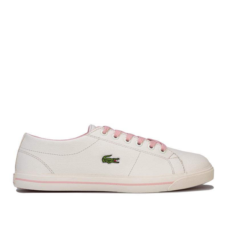 Lacoste Junior Girls Riberic 119 2 Trainers White pink