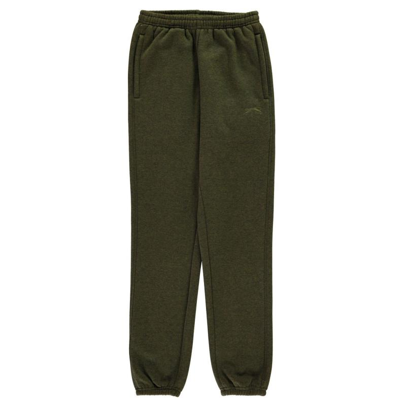Tepláky Slazenger Fleece Pant Junior Khaki Marl