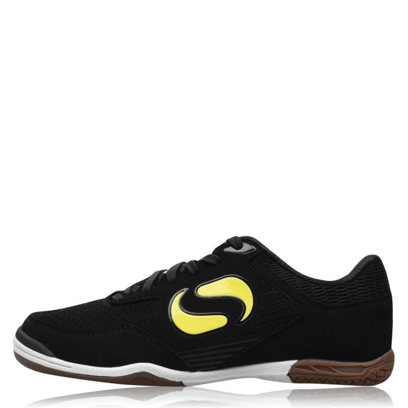 Sondico Pedibus Indoor Football Boots Junior Boys Black/Yellow