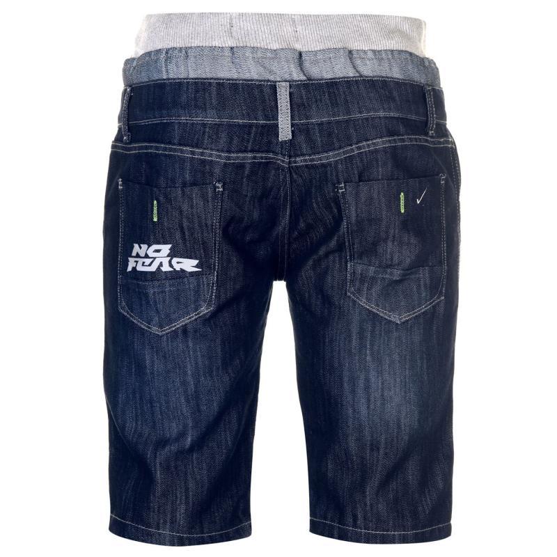 No Fear Double Waist Shorts Mens Dark Wash