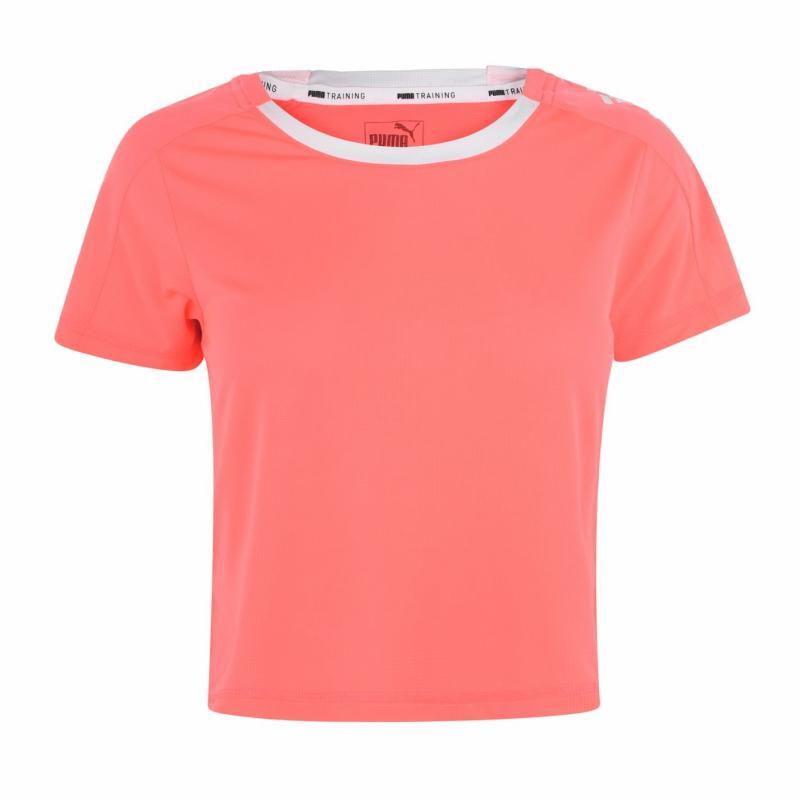 Tričko Puma LQD CELL Crop T Shirt Ladies Pink