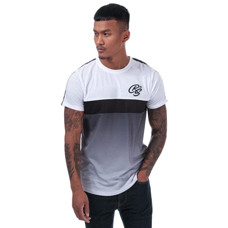 Tričko Crosshatch Mens Timtap Taped T-Shirt White