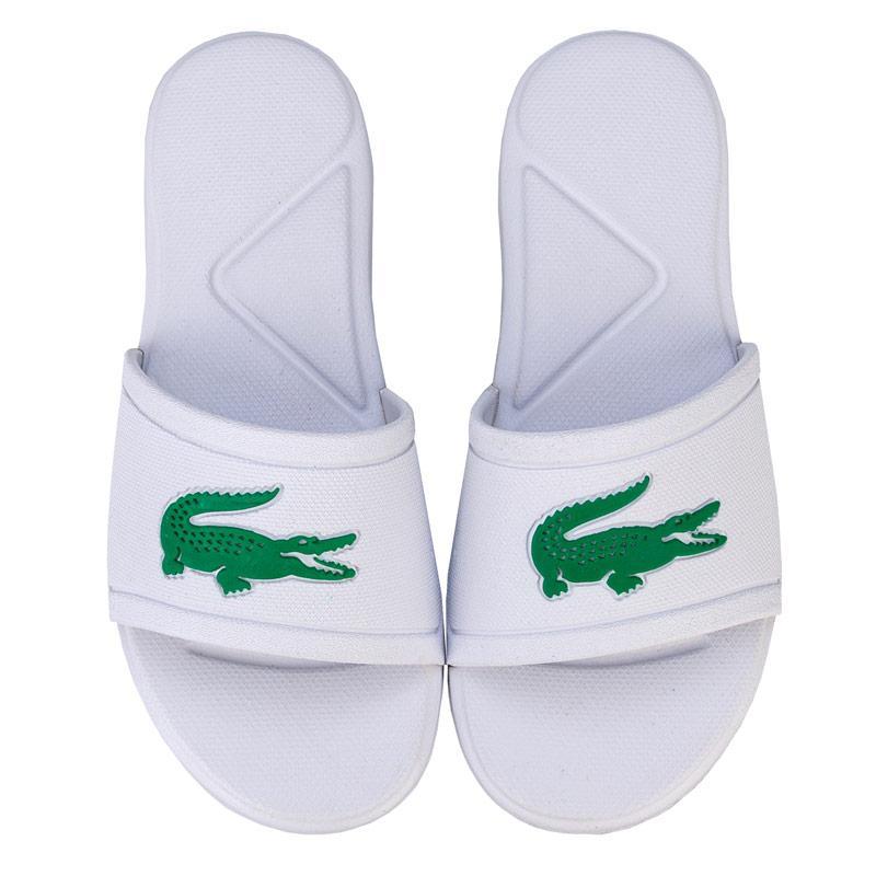 Boty Lacoste Children Boys L.30 Slide Sandal White Green