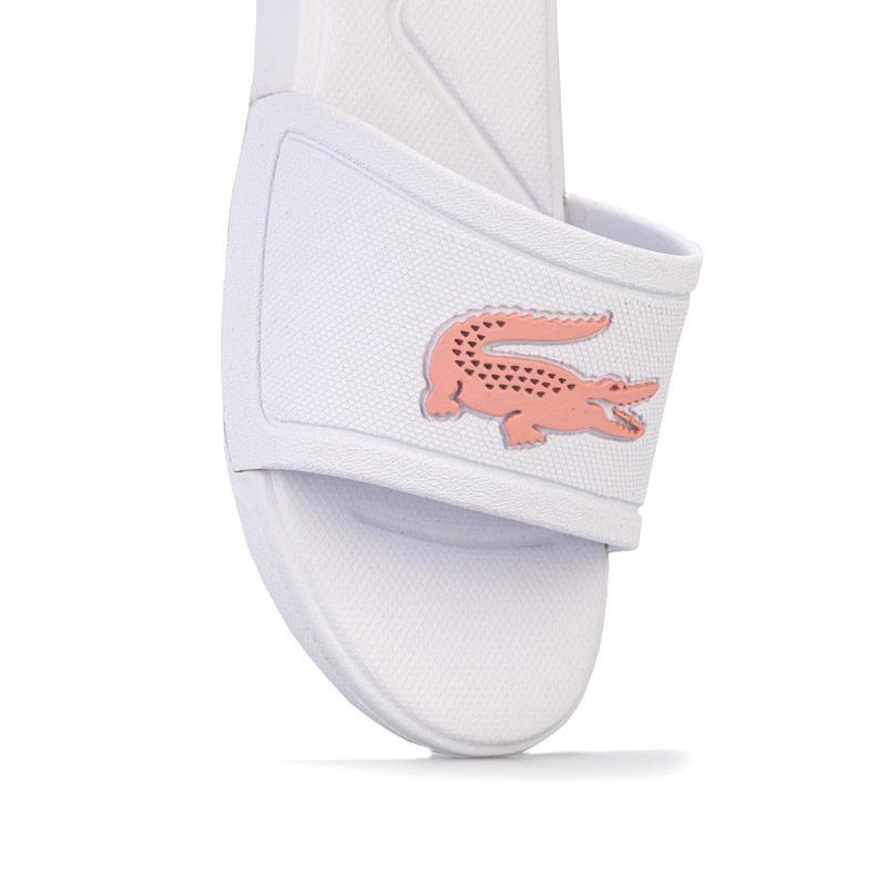 Lacoste Children Girls L.30 Slide Sandal White pink