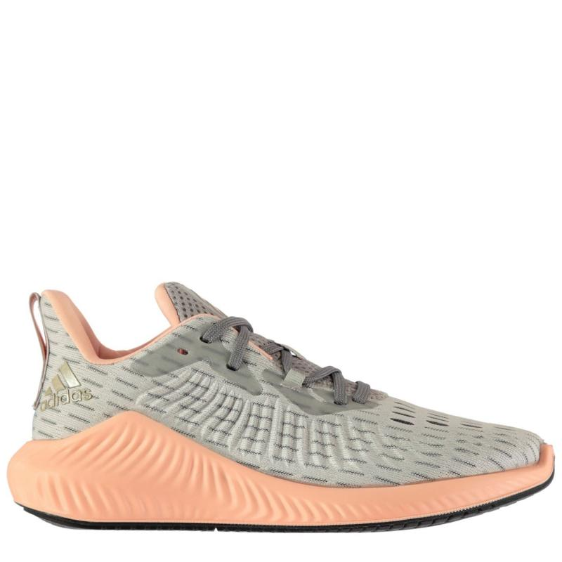 Adidas Alphabounce Parley Ladies Running Shoes Grey/Pink
