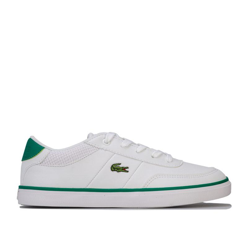Boty Lacoste Junior Boys Court Master Trainers White Green
