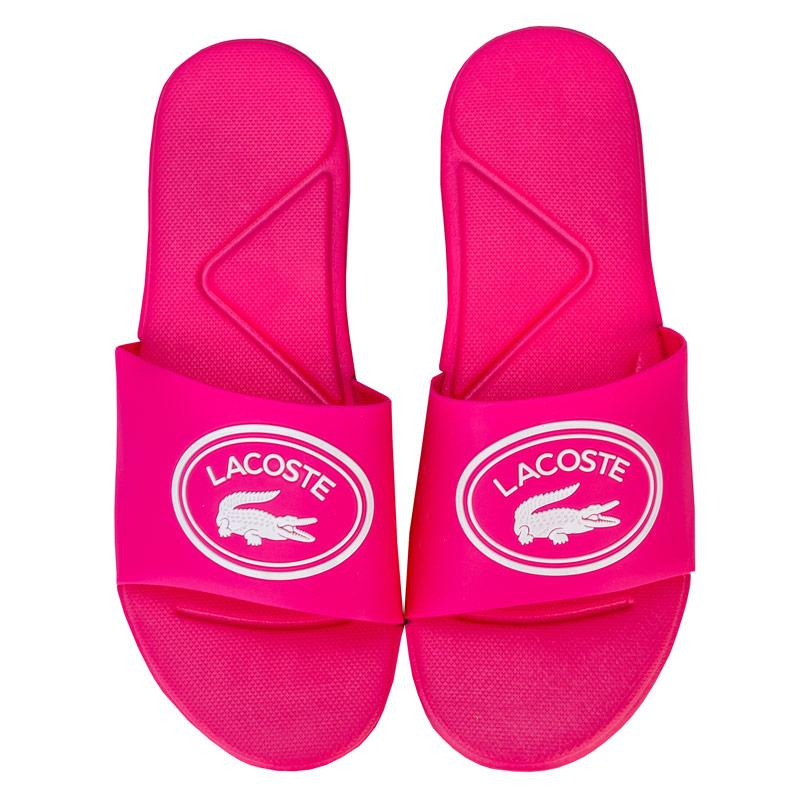 Lacoste Junior Girls L.30 Slide Sandal Pink