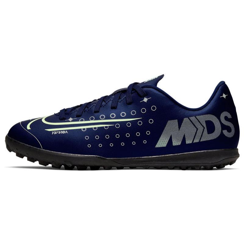 Nike Mercurial Vapor Club Junior Astro Turf Trainers BlueVoid/Silver