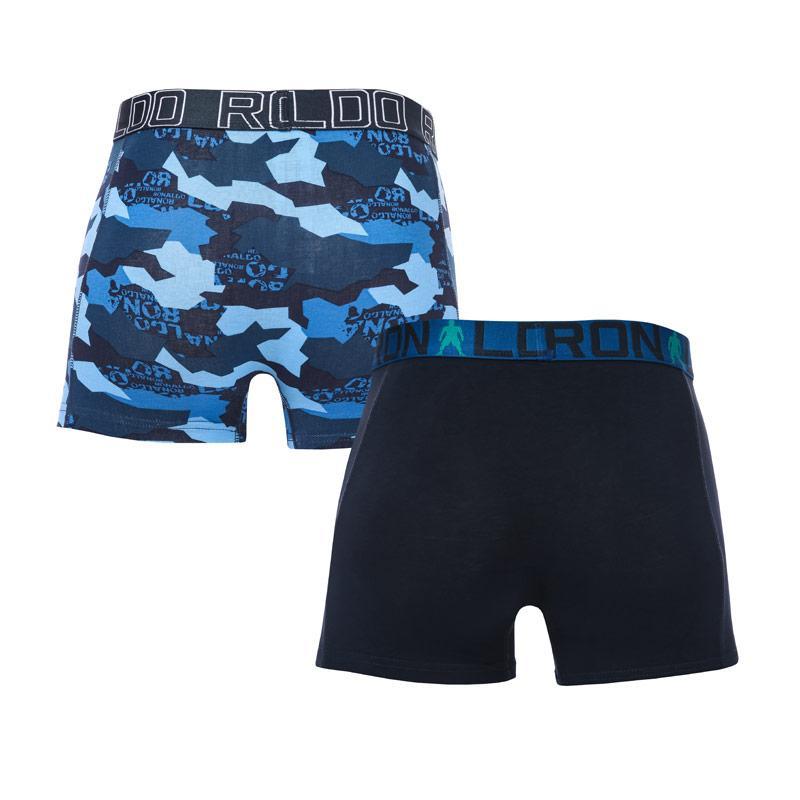 Ponožky CR7 Boys 2 Pack Boxer Shorts blue navy