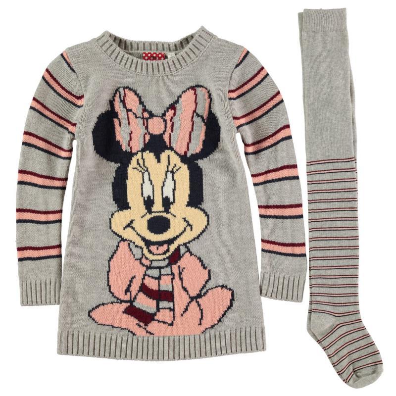 Šaty Character Knit Dress Set Infant Girls Disney Minnie
