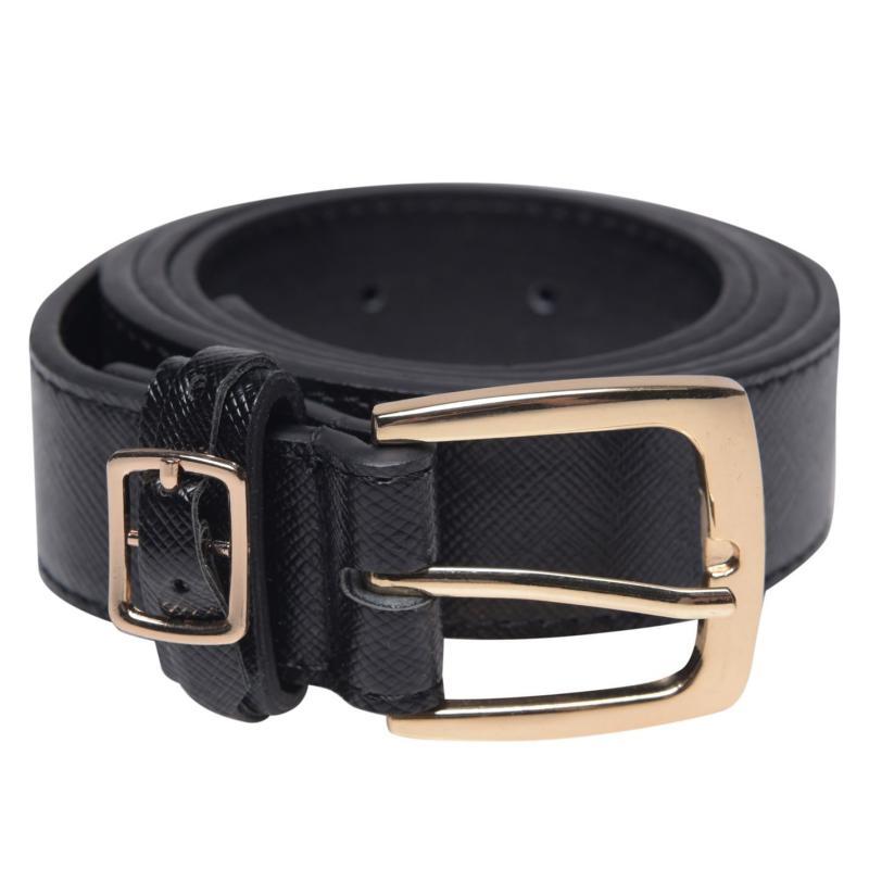Kangol Double Buckle Belt Ladies Black