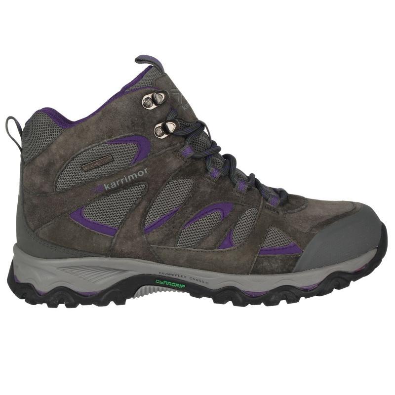 Boty Karrimor Thorpe Mid Walking Boots Ladies Charcoal/Purple