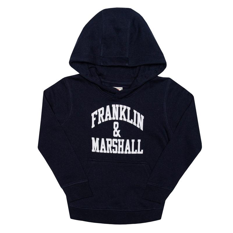 Franklin And Marshall Infant Boys F and M Hoody Navy