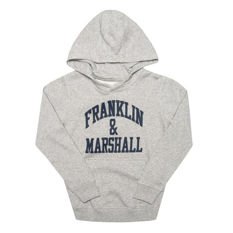 Franklin And Marshall Infant Boys F and M Hoody Grey