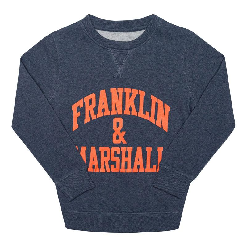 Franklin And Marshall Infant Boys F and M Sweater Denim
