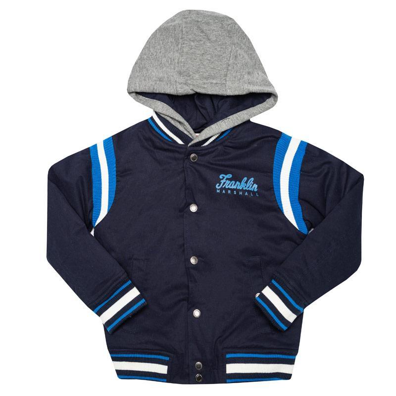 Bunda Franklin And Marshall Infant Boys Varsity Jacket Navy