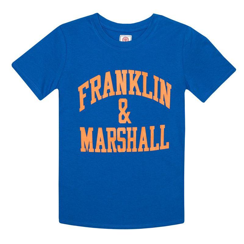 Tričko Franklin And Marshall Junior Boys F and M CF Logo T-Shirt Grey