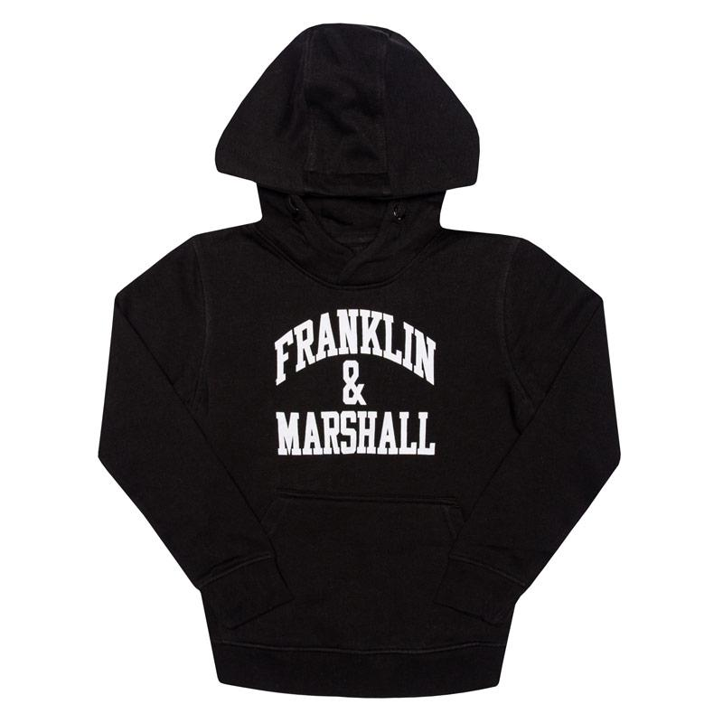Tričko Franklin And Marshall Junior Boys F and M Hoody Black