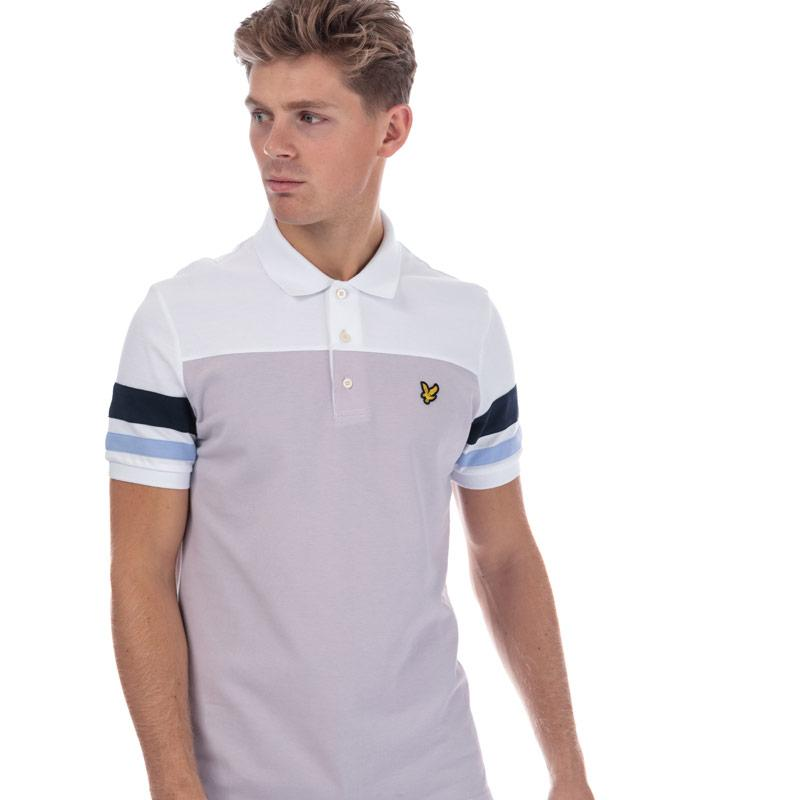 Lyle And Scott Mens Contrast Band Polo Shirt Lilac