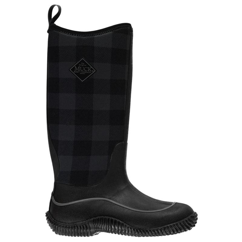 Boty Muck Boot Hale Boots Ladies Black/Gry Plaid