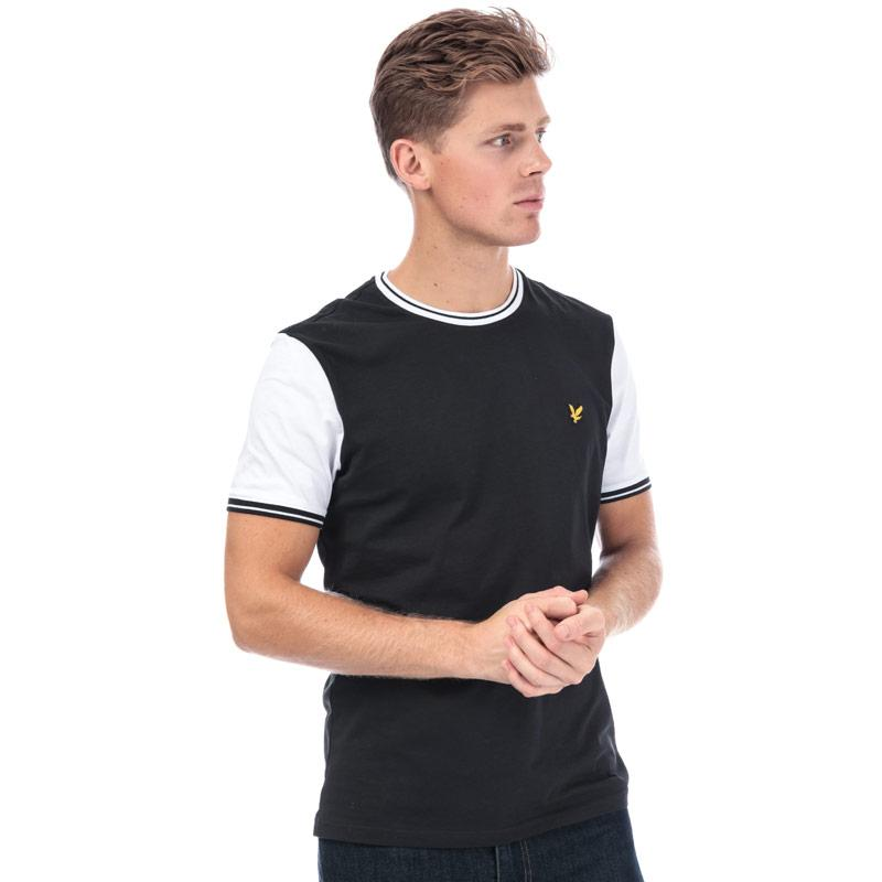 Tričko Lyle And Scott Mens Tipped T-Shirt Black-White