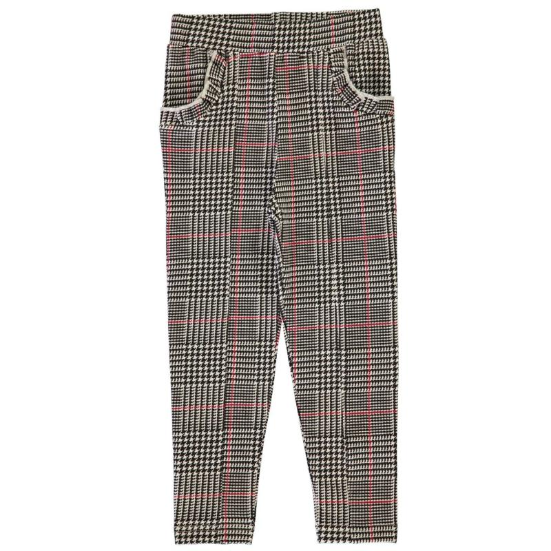 Crafted Ponte Trousers Girls Black Check