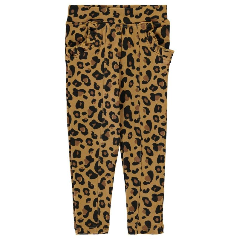 Crafted Ponte Trousers Infant Girls Leopard