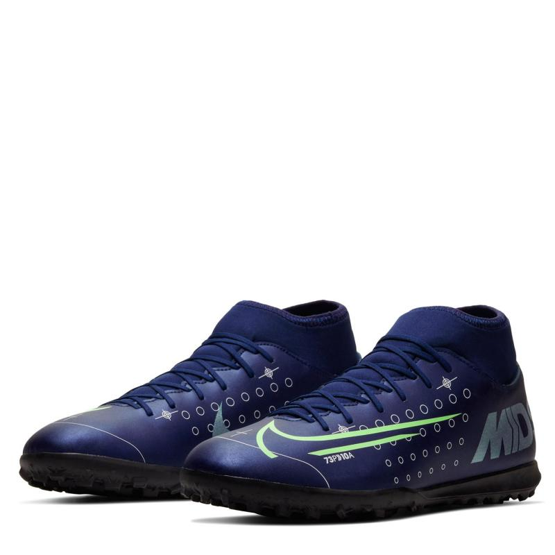 Nike Mercurial Superfly Club DF Mens Astro Turf Trainers BlueVoid/Silver