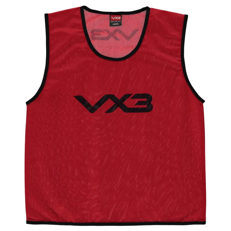 VX-3 Hi Viz Mesh Training Bibs Junior Flrscnt Red