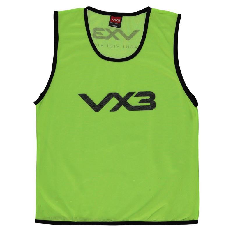 VX-3 Hi Viz Mesh Training Bibs Junior Flrscnt Green