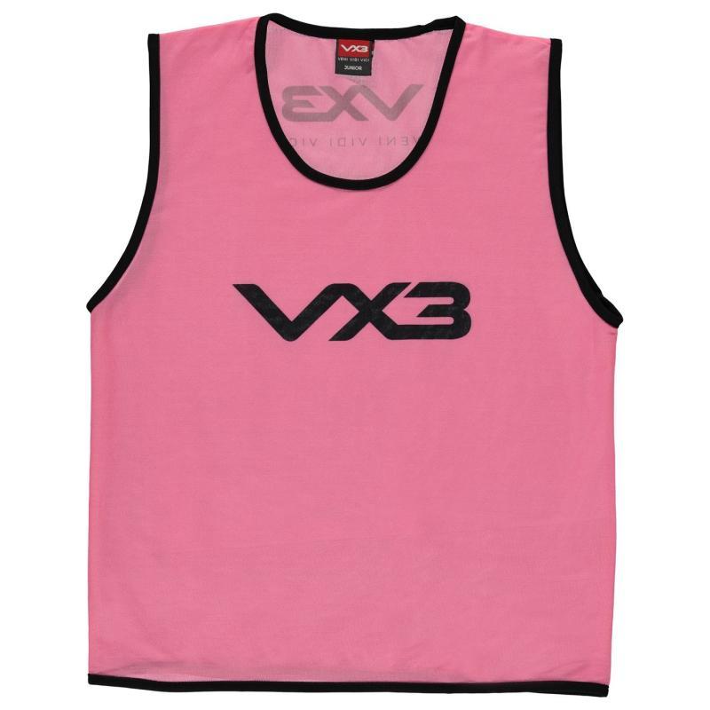 VX-3 Hi Viz Mesh Training Bibs Junior Flrscnt Pink