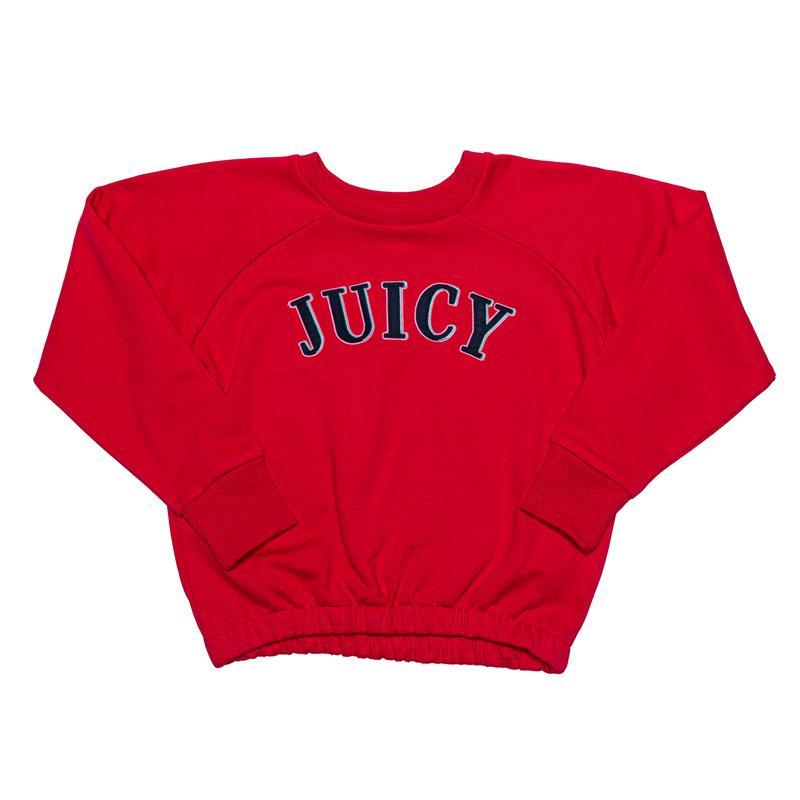 Juicy Couture Junior Girls Applique Sweat White