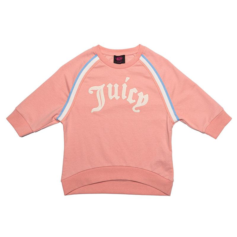 Juicy Couture Junior Girls Gothic Script Sweat Peach