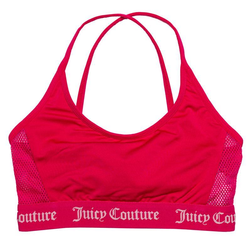 Juicy Couture Junior Girls Juicy Swim Bikini Top Rose