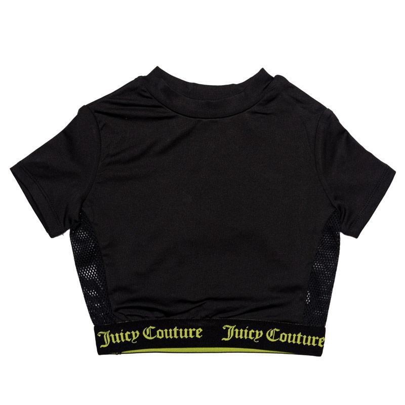 Juicy Couture Junior Girls Juicy Swim T-Shirt Black